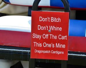 cart sign