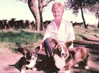 Our girl Milly as a pup with Copperleaf founder Joy.
